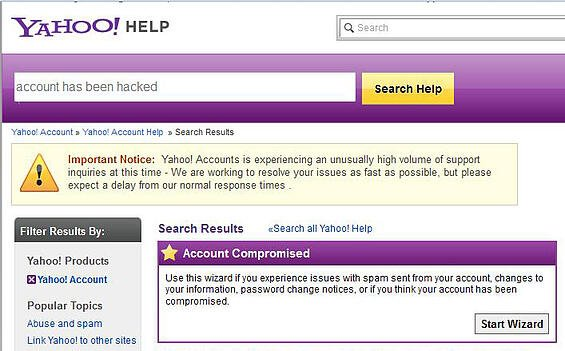 Yahoo Spam Continues to Bombard Australian Users