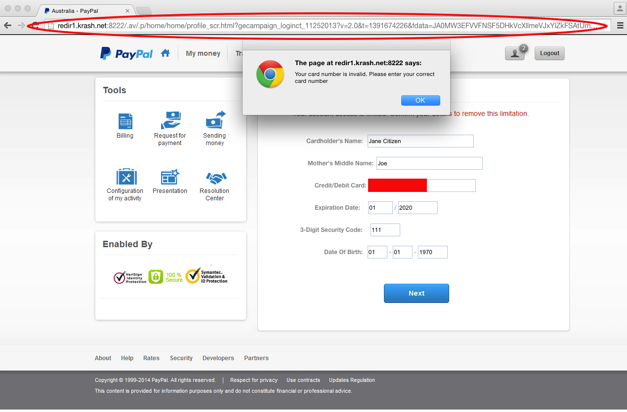 Paypal Phishing Email 3 Scam MailGuard Security