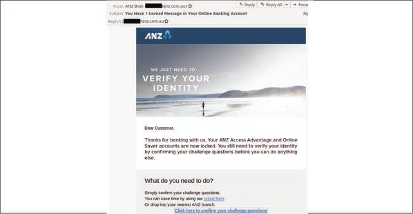 ANZ Email Scam