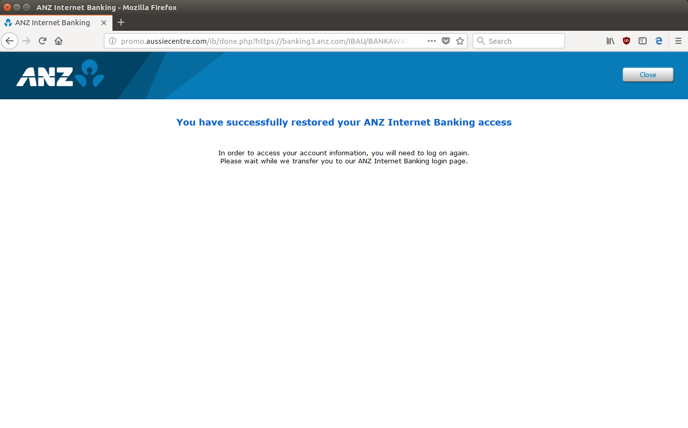 ANZ Scam Aims to Steal Internet Banking Credentials