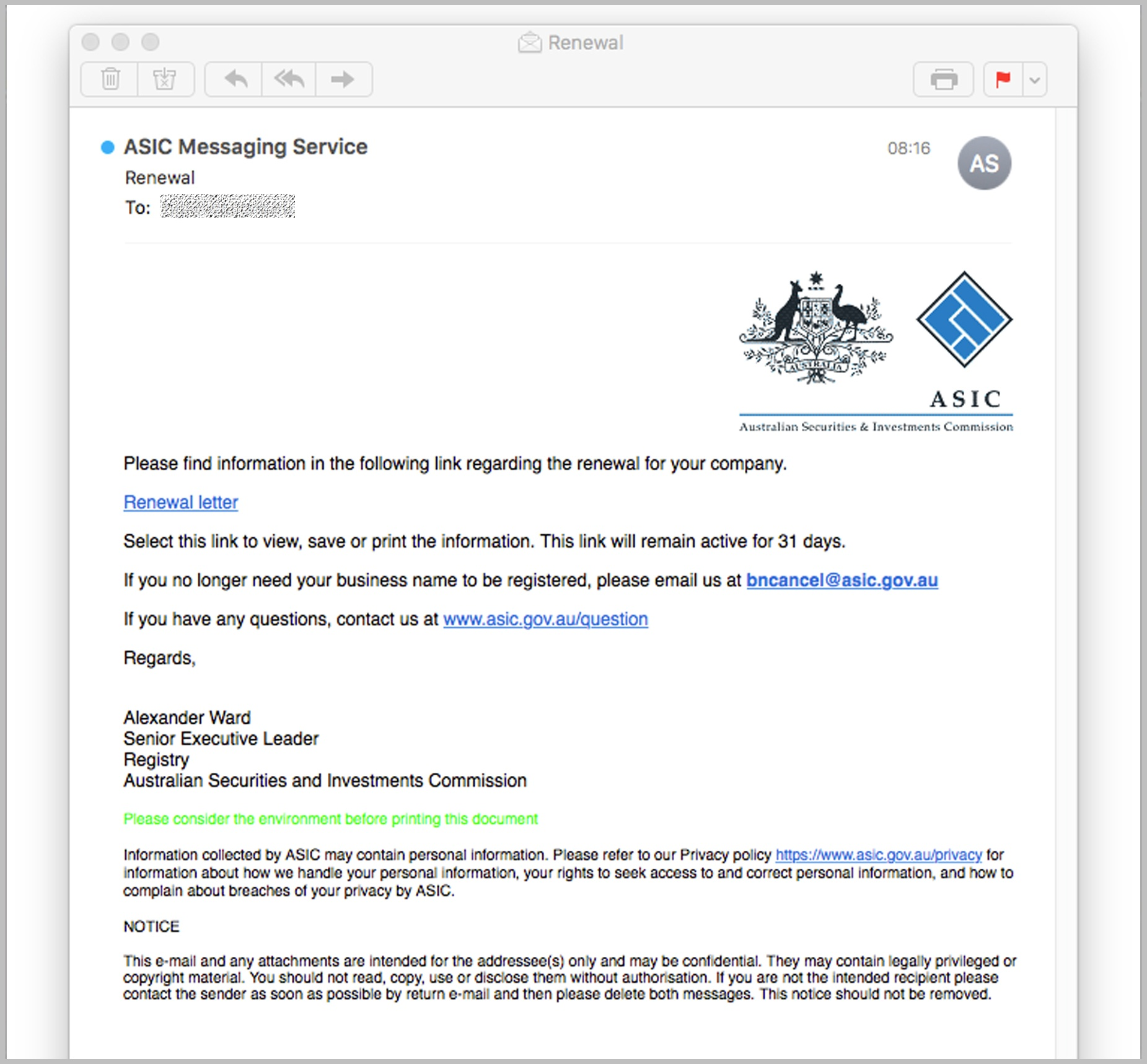 ASIC fake ID malware email April 19 MAILGUARD2.jpg