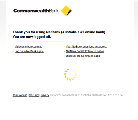 CommBank logged off