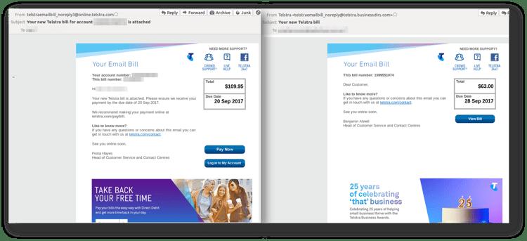 Telstra invoice scam_comparison Sept 26.png