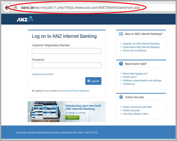 ANZ 'Online Access Temporarily Suspended' Email Phishing Scam