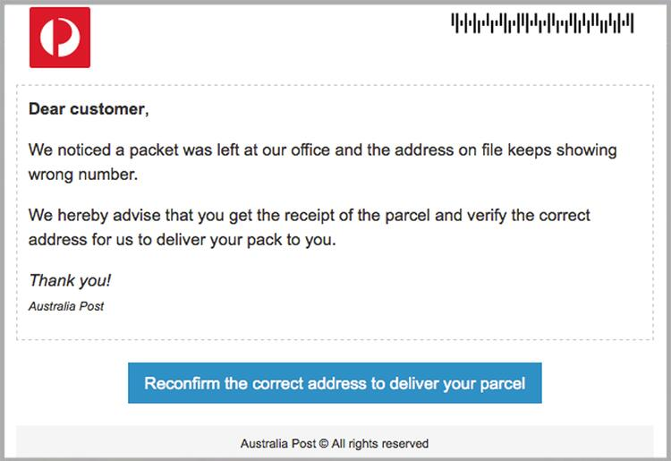 Cybercriminals replicate Australia Post website in sophisticated malware attackMAILGUARD2.jpg