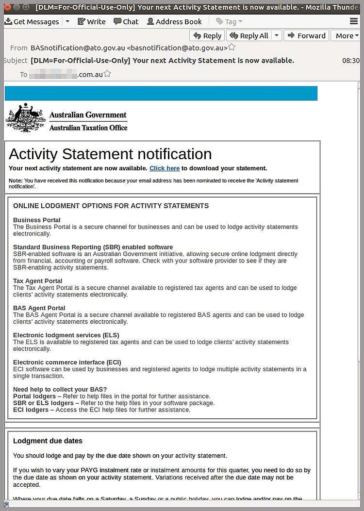 Breaking Don T Click High Risk Ato Scam Email