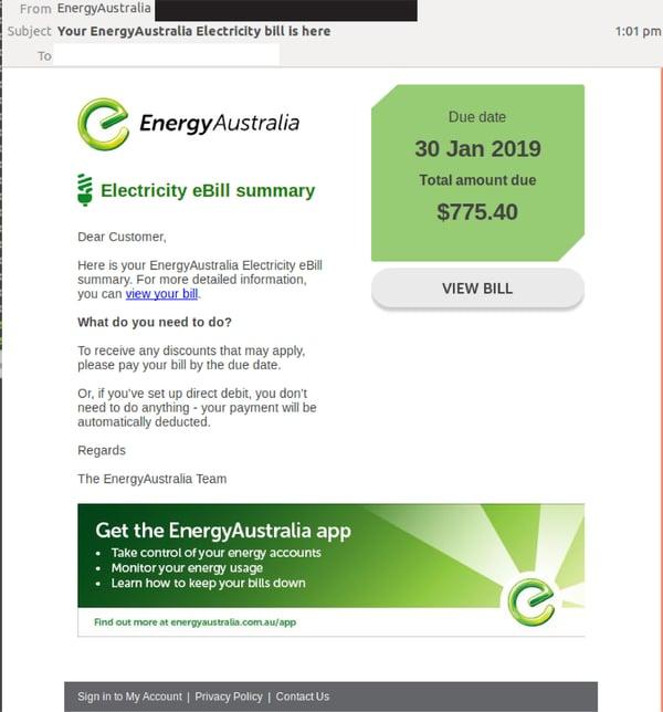 EnergyAustralia brandjacked