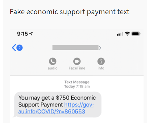 Fake economic support tect