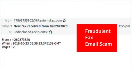 fax email scam