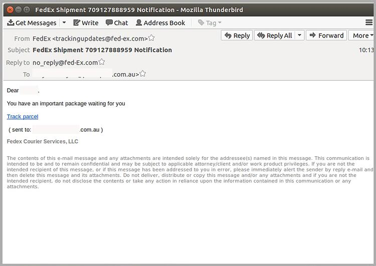 Don T Fall For This Fraudulent Fedex Phishing Email