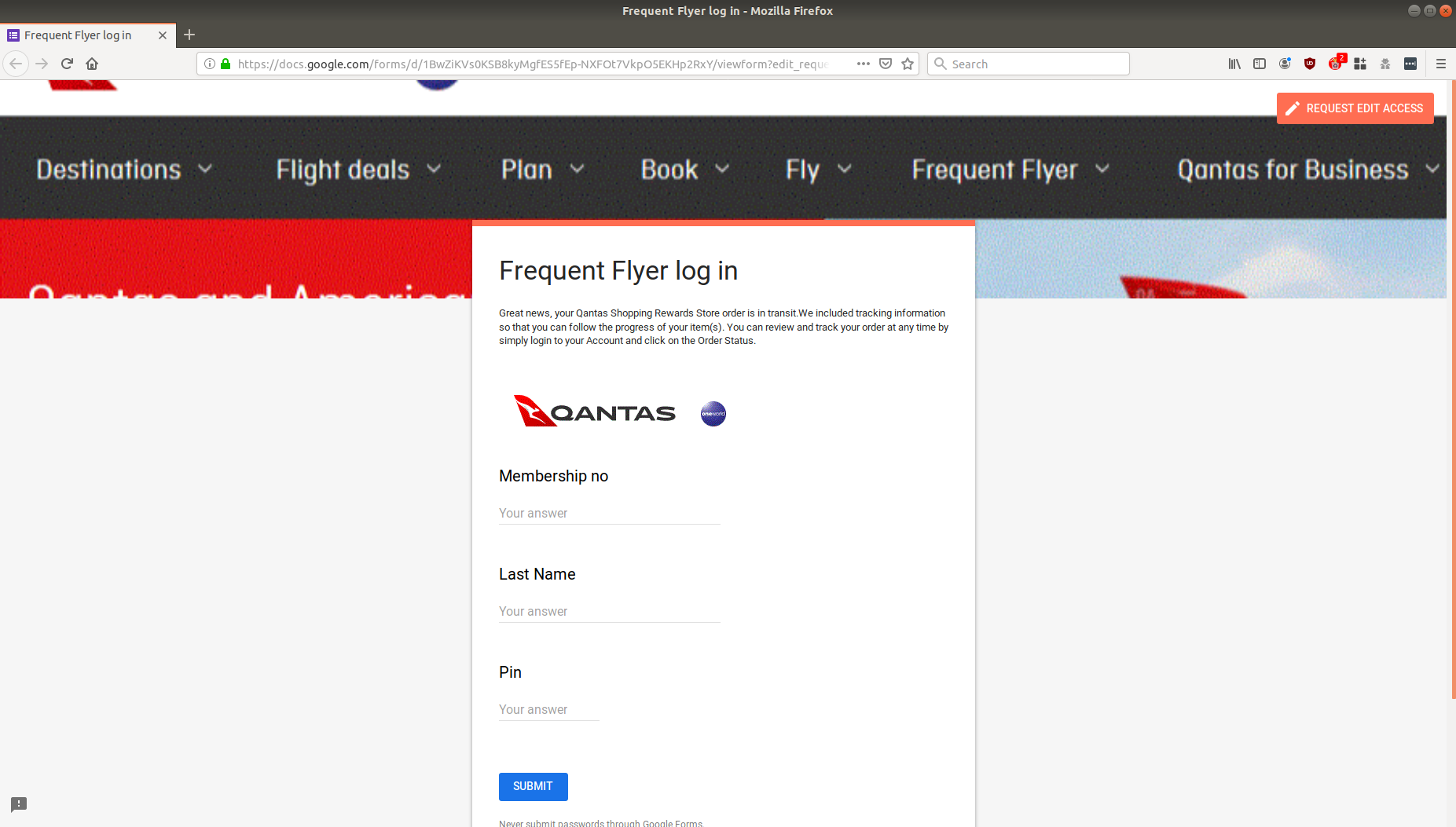 Phishing scam disguised as Qantas Shopping delivery email lands in