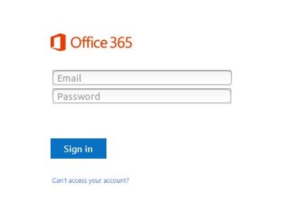 0365 phishing page