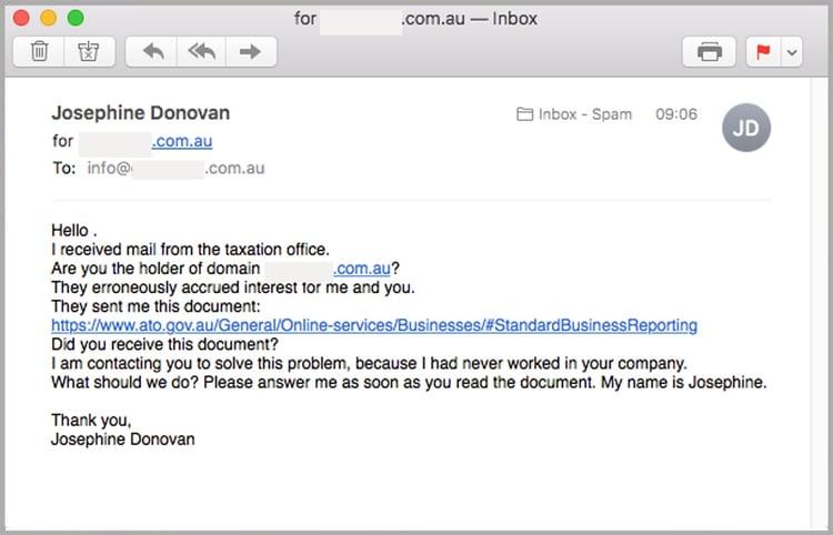 Good Samaritan email scam MailGuard example1.jpg