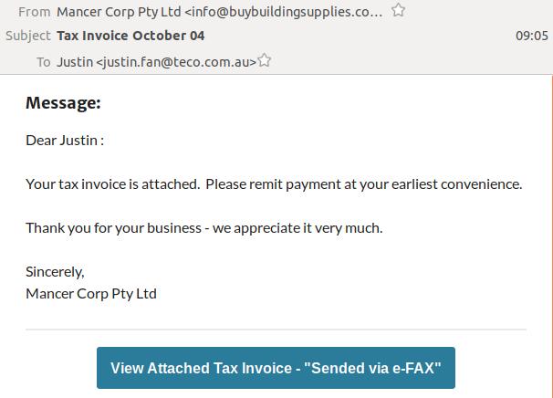 MancerCorp - tax invoice