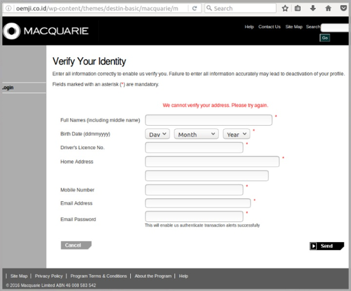 Macquarie Bank online banking users beware of zero-day ...