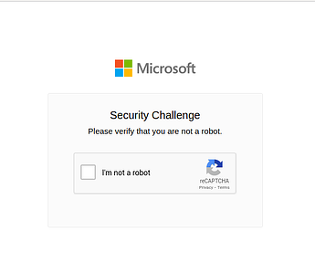 Microsoft recaptcha