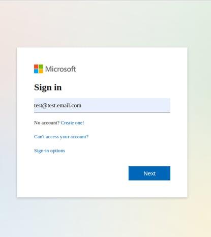 Microsoft test