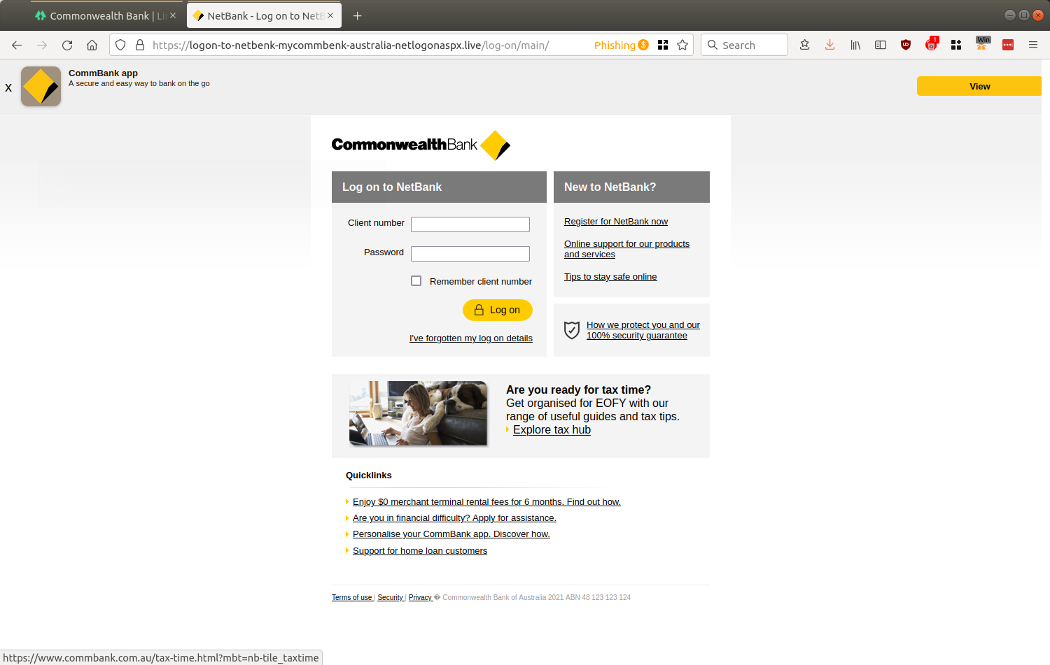 NetBank - Log on to NetBank - Enjoy simple and secure online banking from Commonwealth Bank — Mozilla Firefox_599