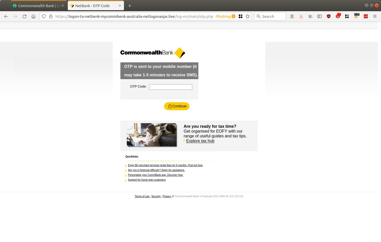 NetBank - OTP Code — Mozilla Firefox_601