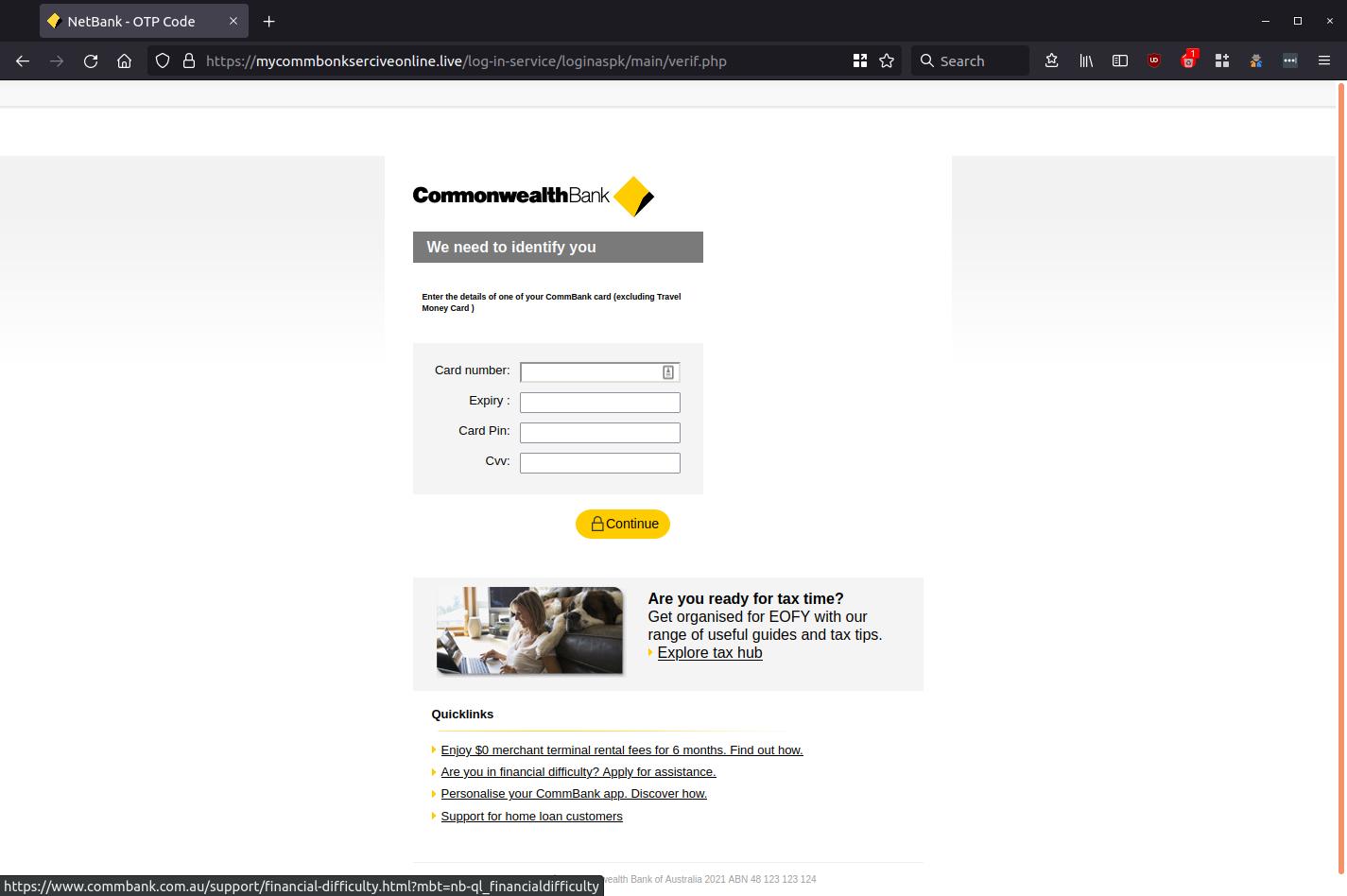 NetBank - OTP Code — Mozilla Firefox_665