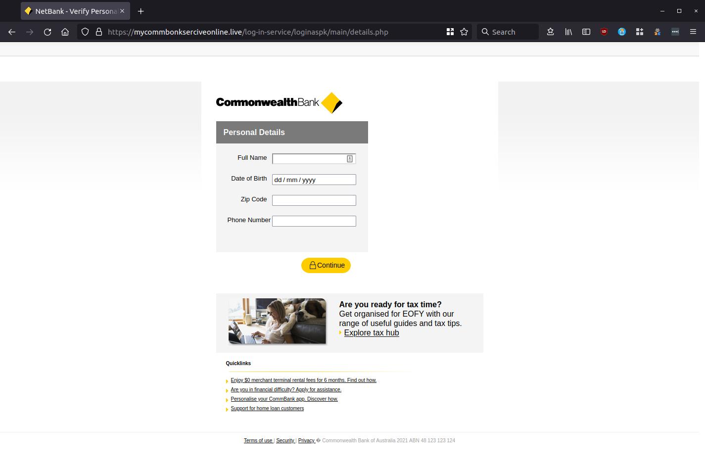NetBank - Verify Personal Details — Mozilla Firefox_663