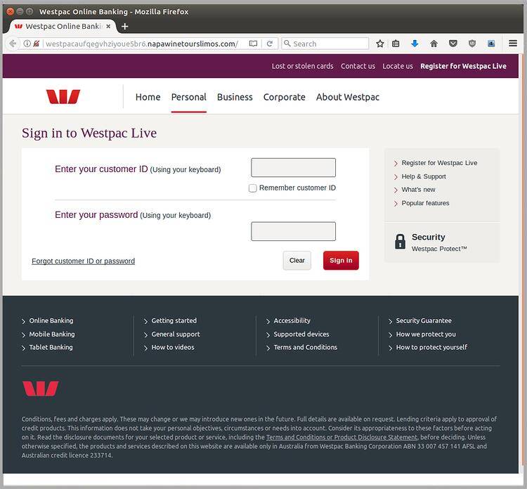 Update: Westpac brand again under attack