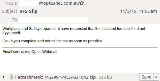 Warning: Malicious email scam spoofing Optus continues to