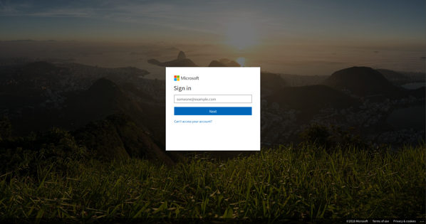 Sign in O365