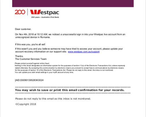 WestPac email pdf