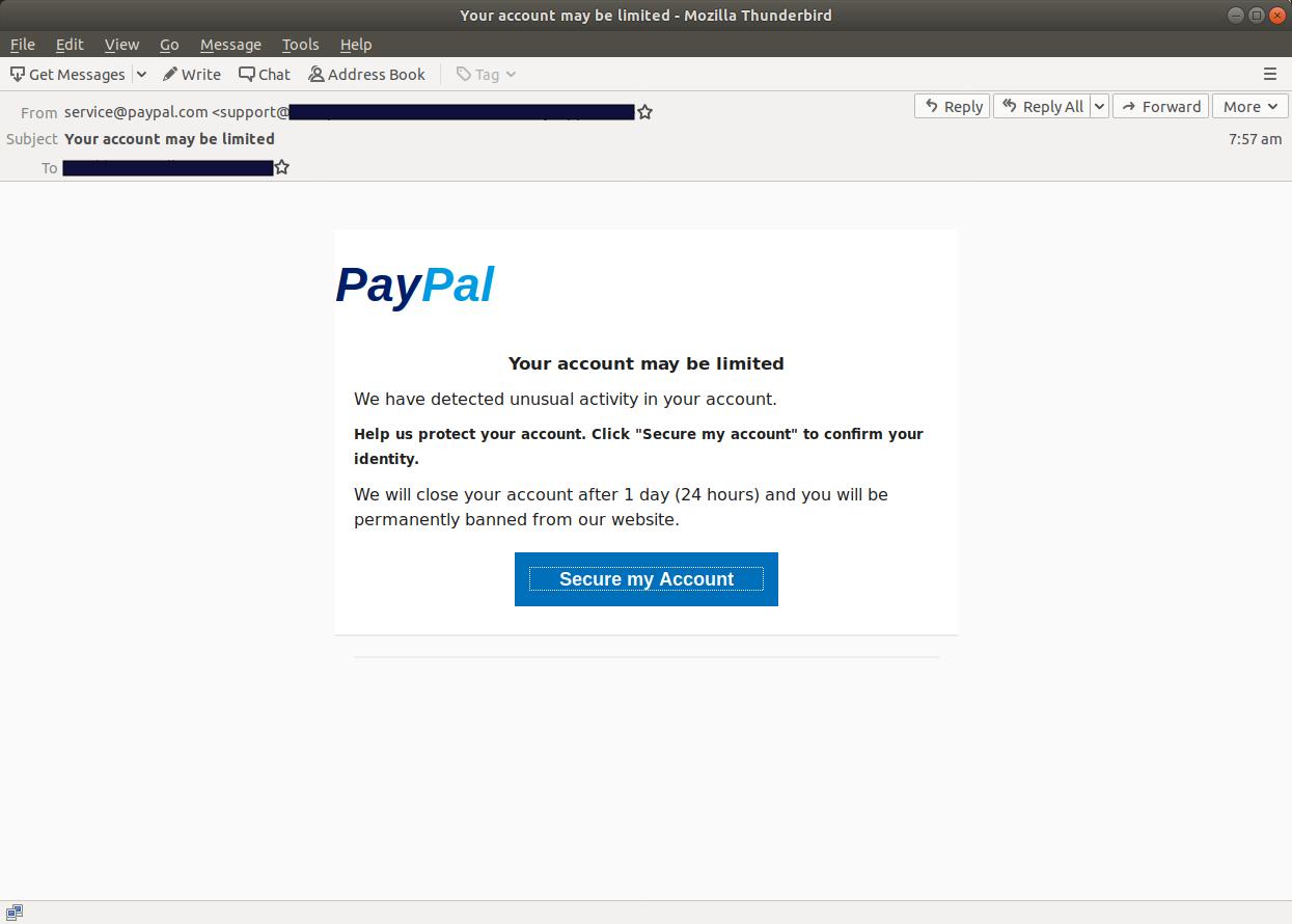 Your account may be limited - Mozilla Thunderbird_658