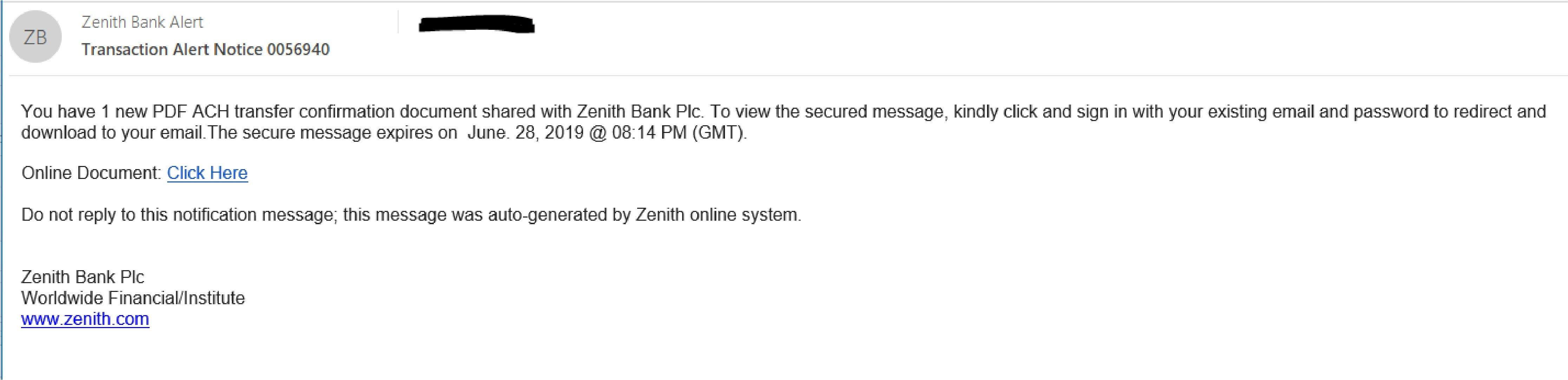 Zenith email blog