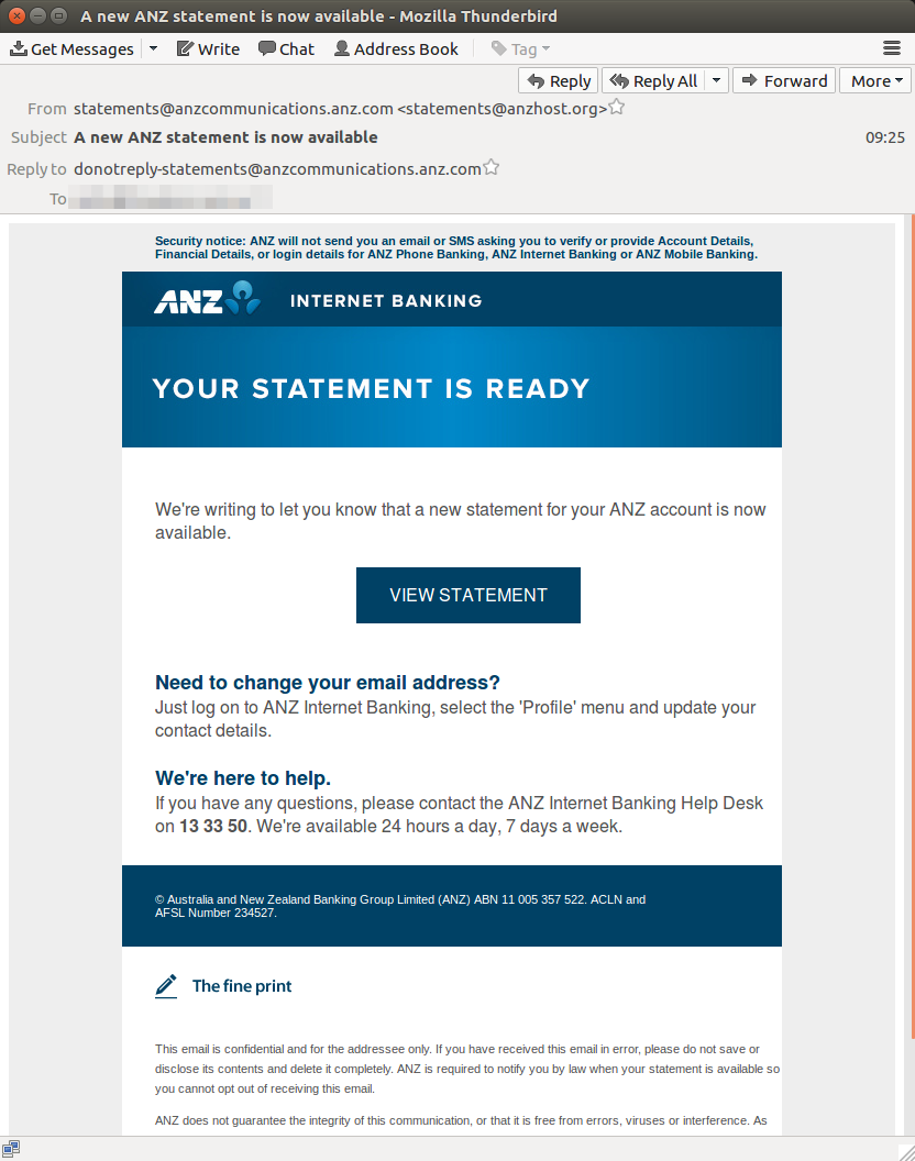 fake ANZ statement email 1 MailGuard July11.png