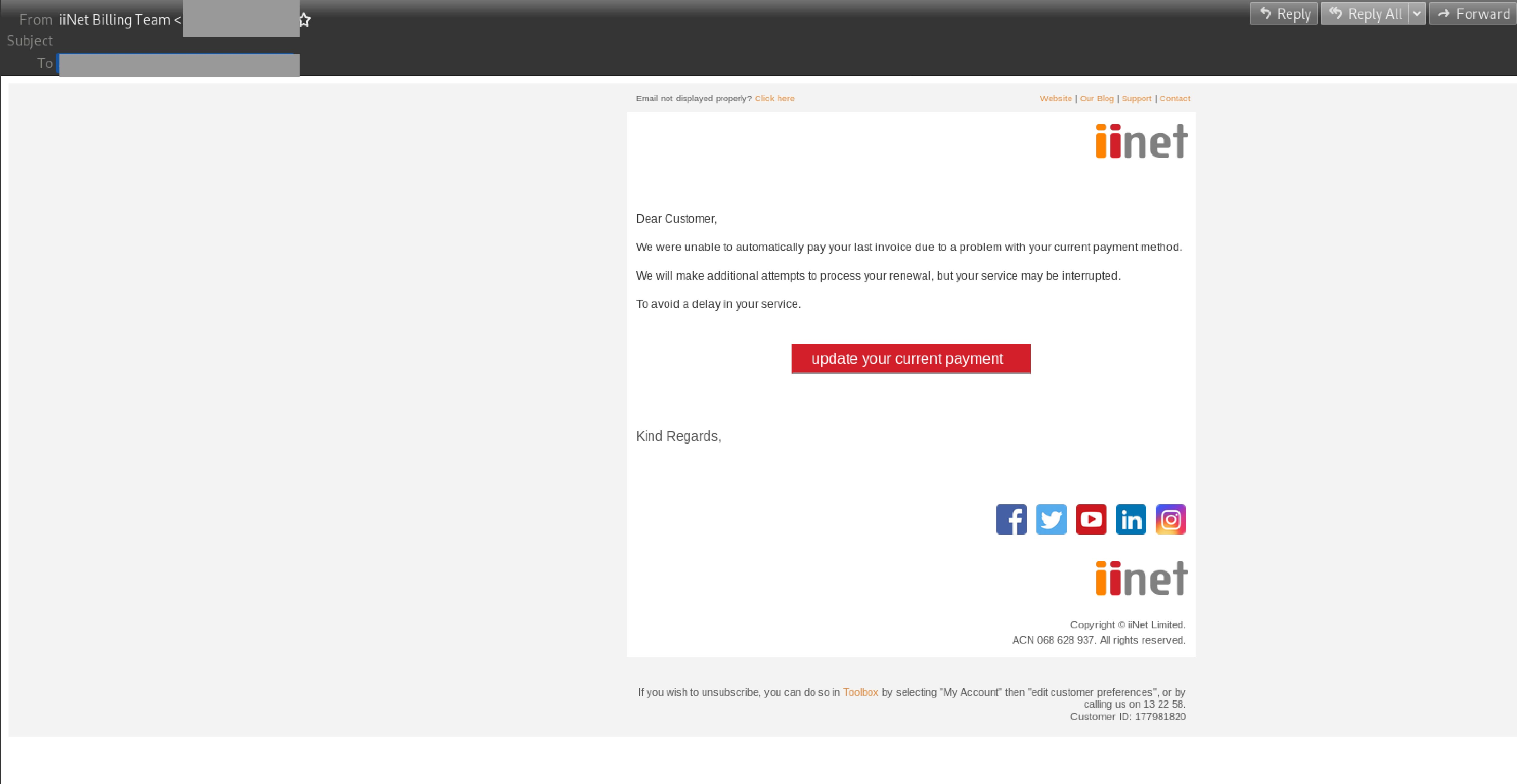 iiNet billing edited