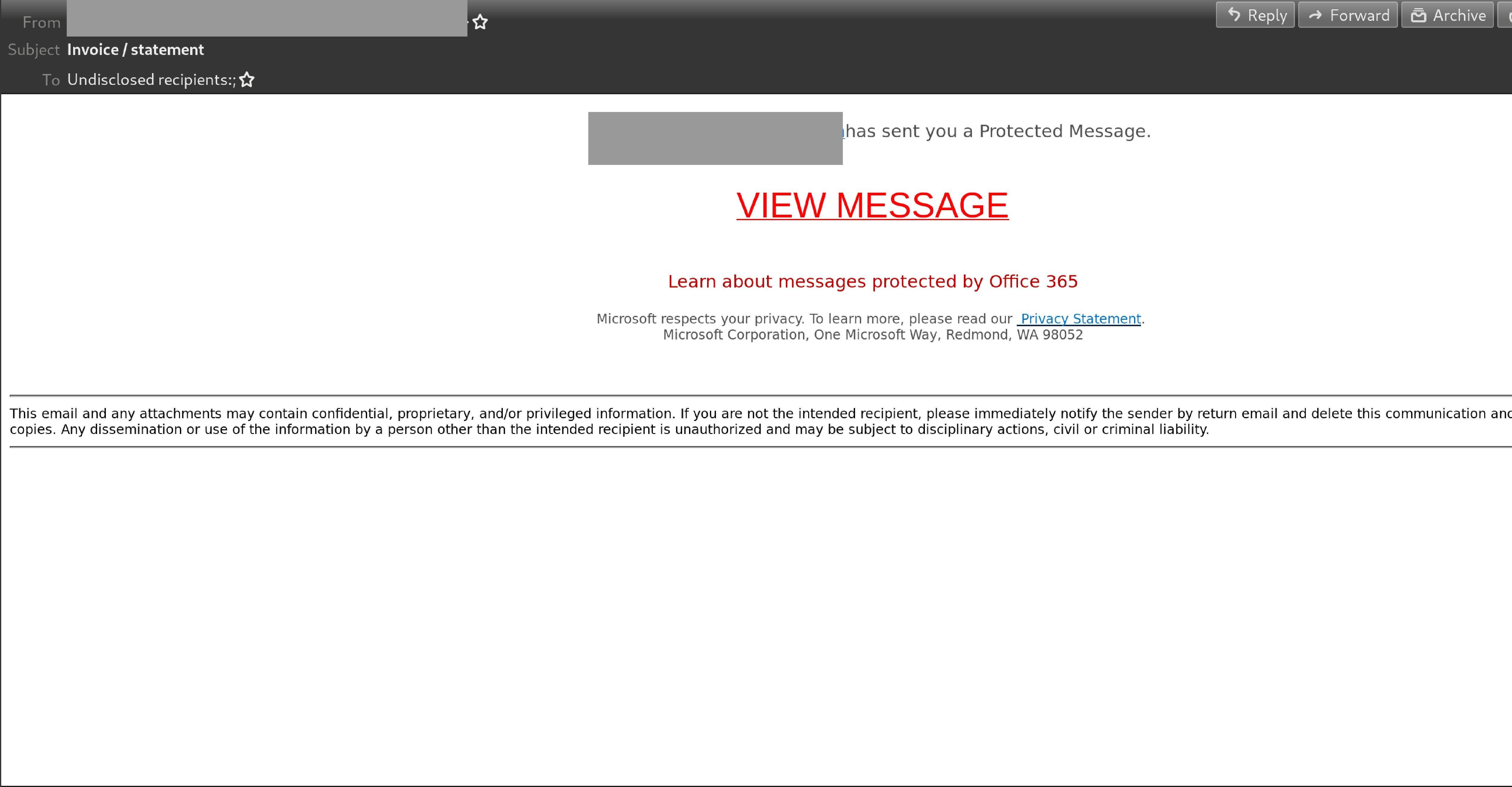 invoice statement