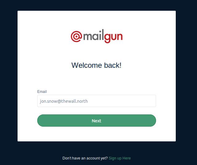 mailgun page