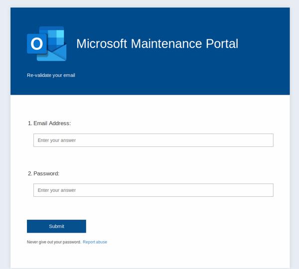microsoft maintainence portal