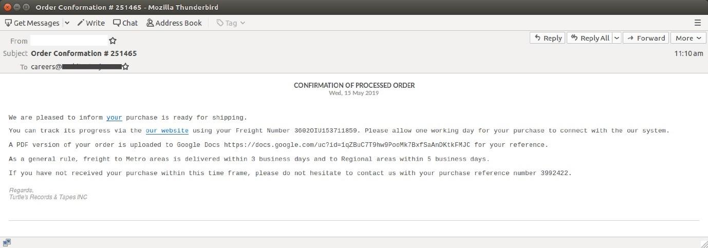 order confirmation