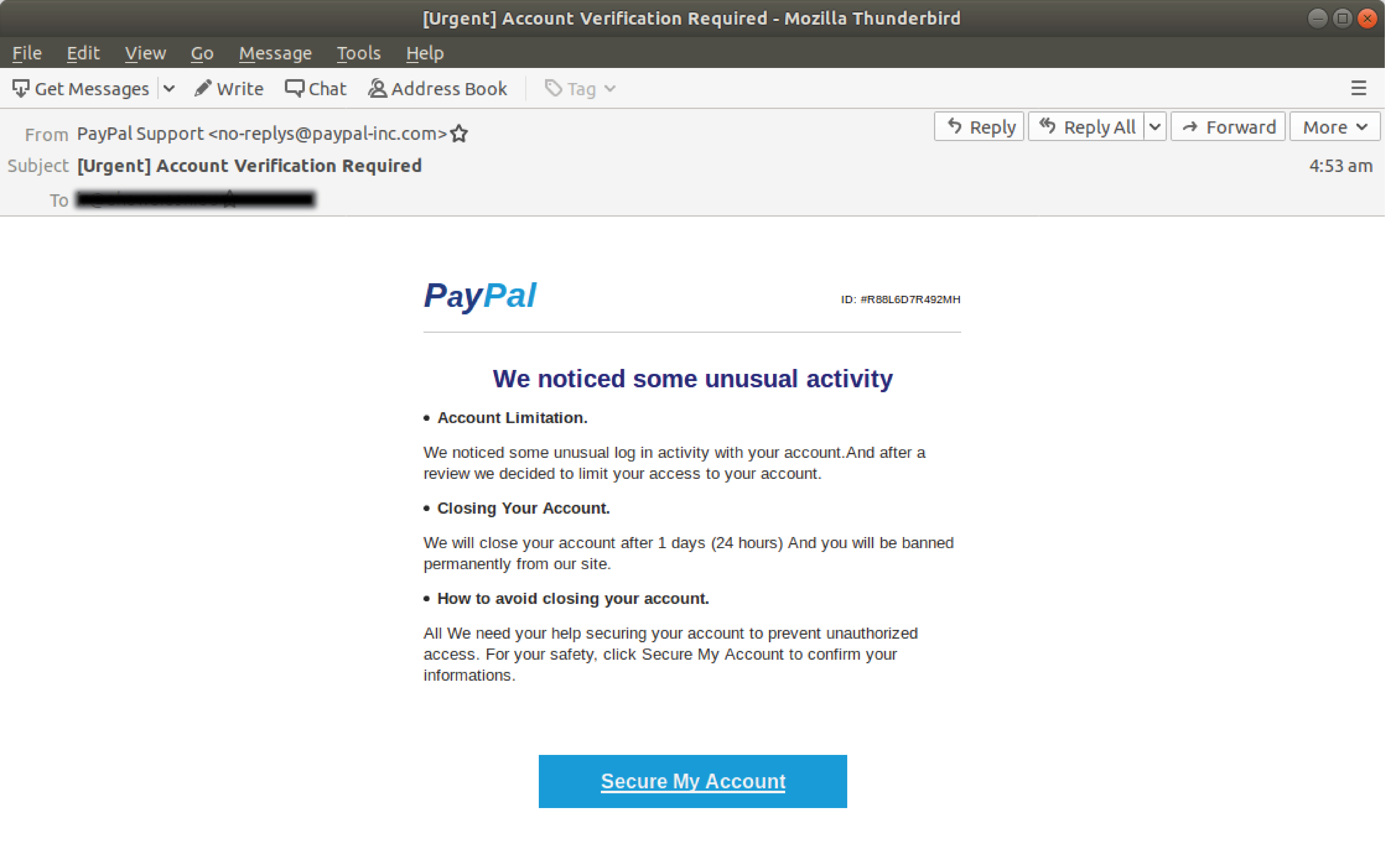 Paypal Phishing Emails