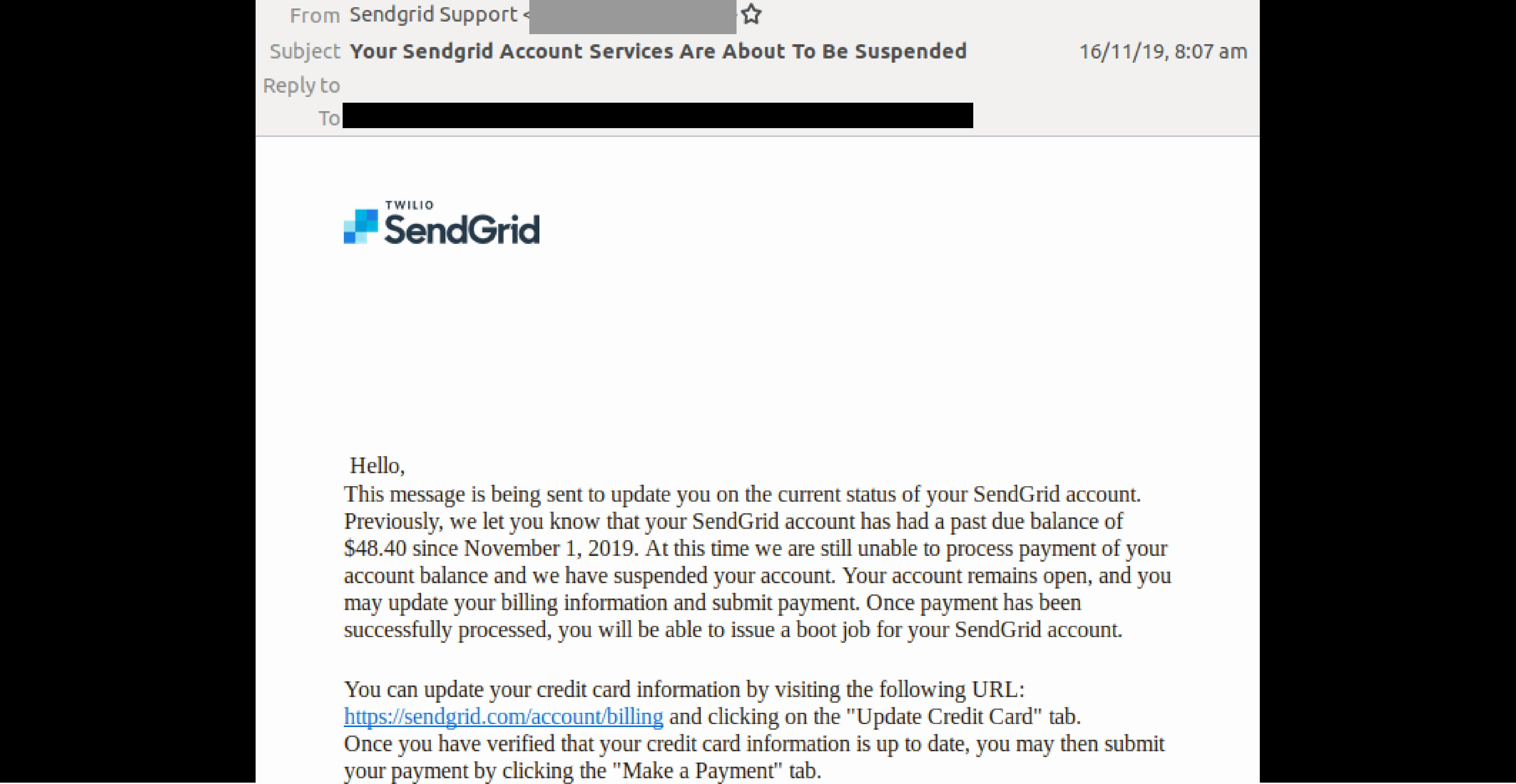 sendgrid edited