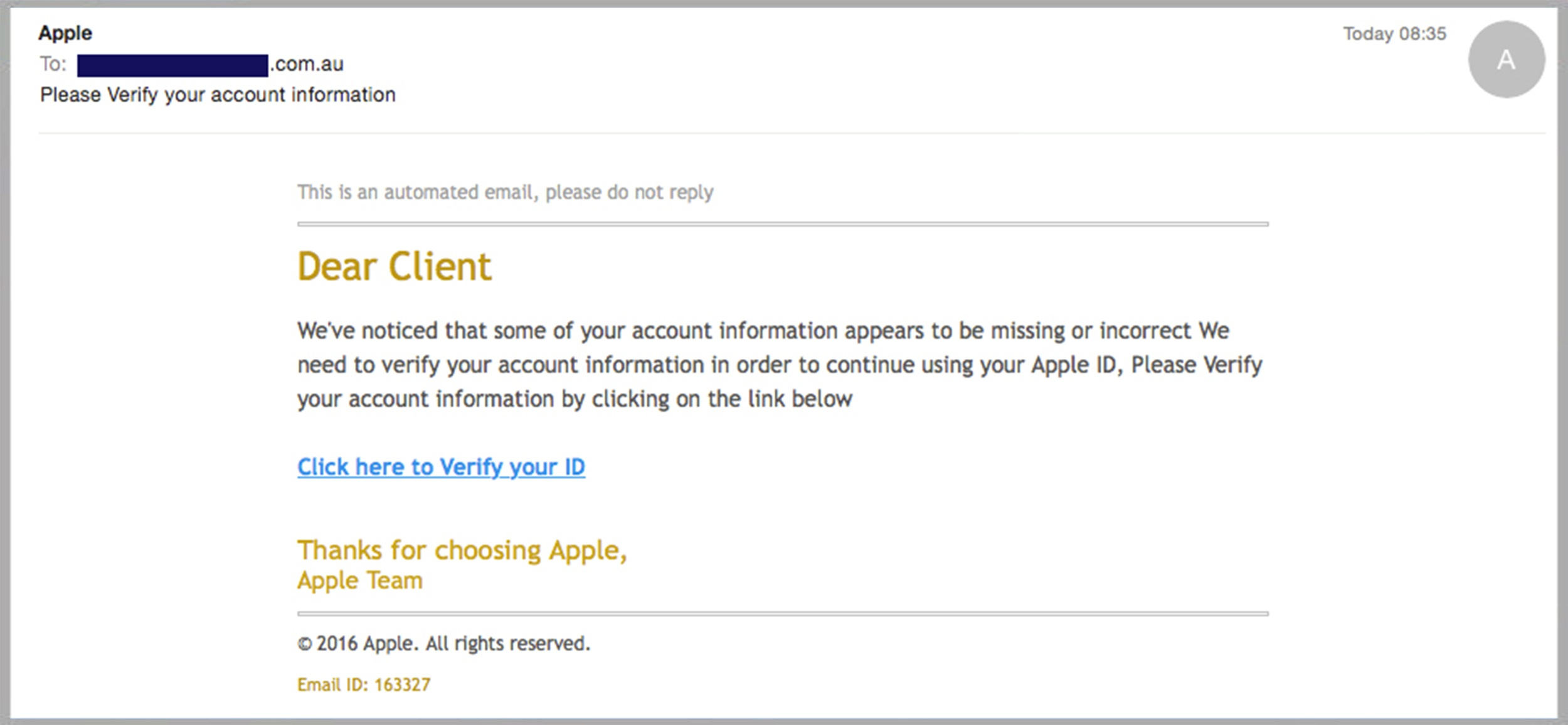 The Fake Emails Apple You Good Can Phishing Or Real From Scam Latest Pick Bad
