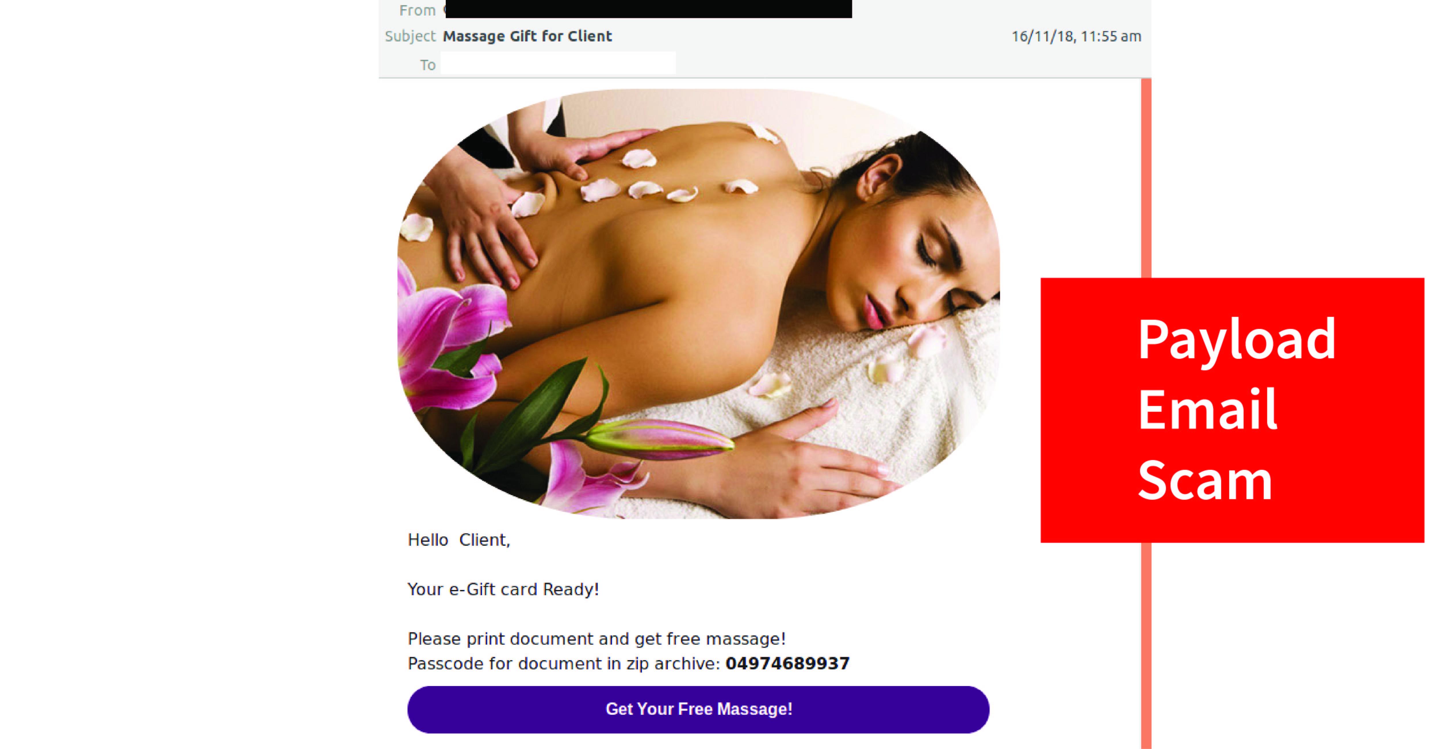 Massage Payload Scam Social Image