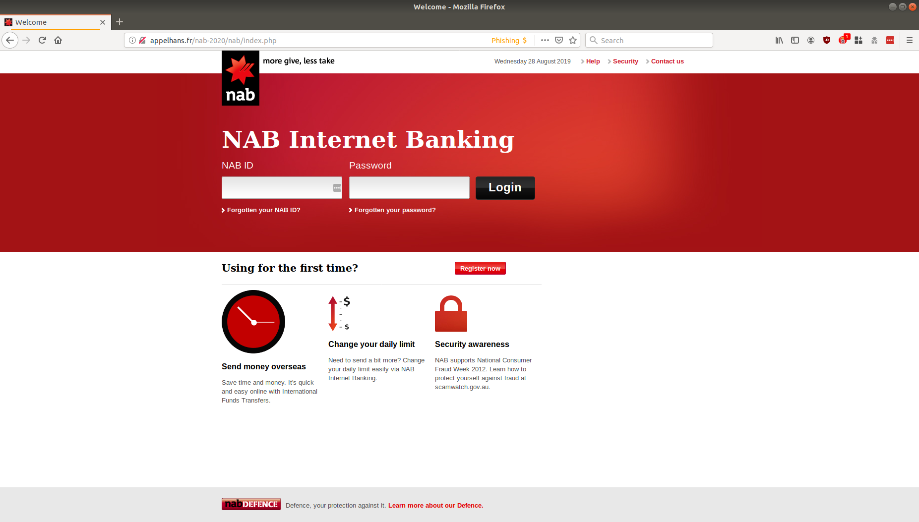 Email Phishing Scam Spoofing Nab Claims Users Cards Are Put On Hold