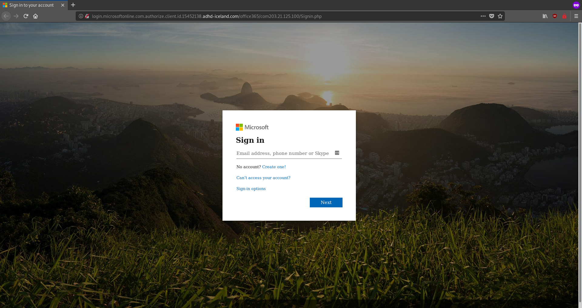 Scam_Microsoft_SignInPage_21102019