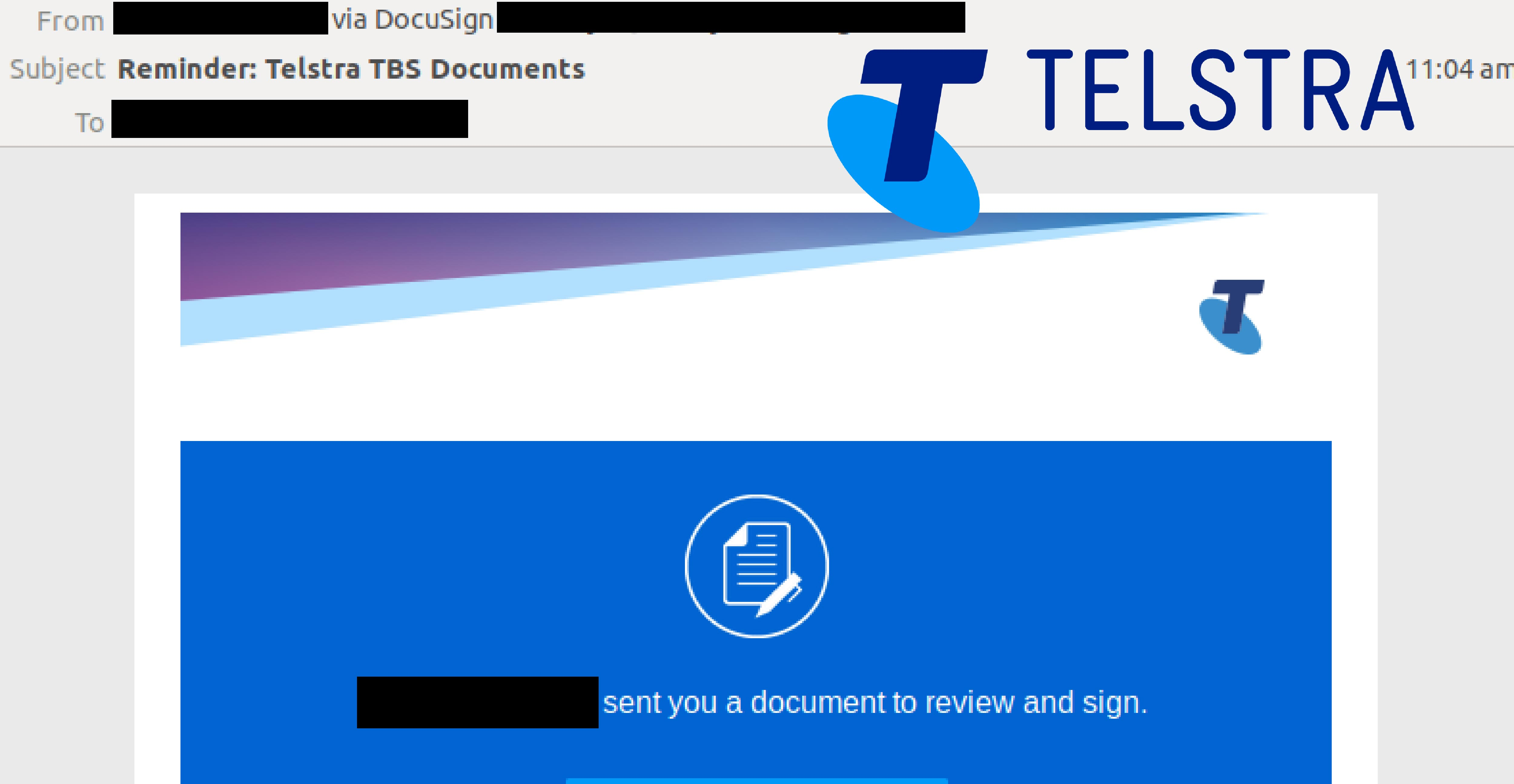 Telstra Email Scam 220119