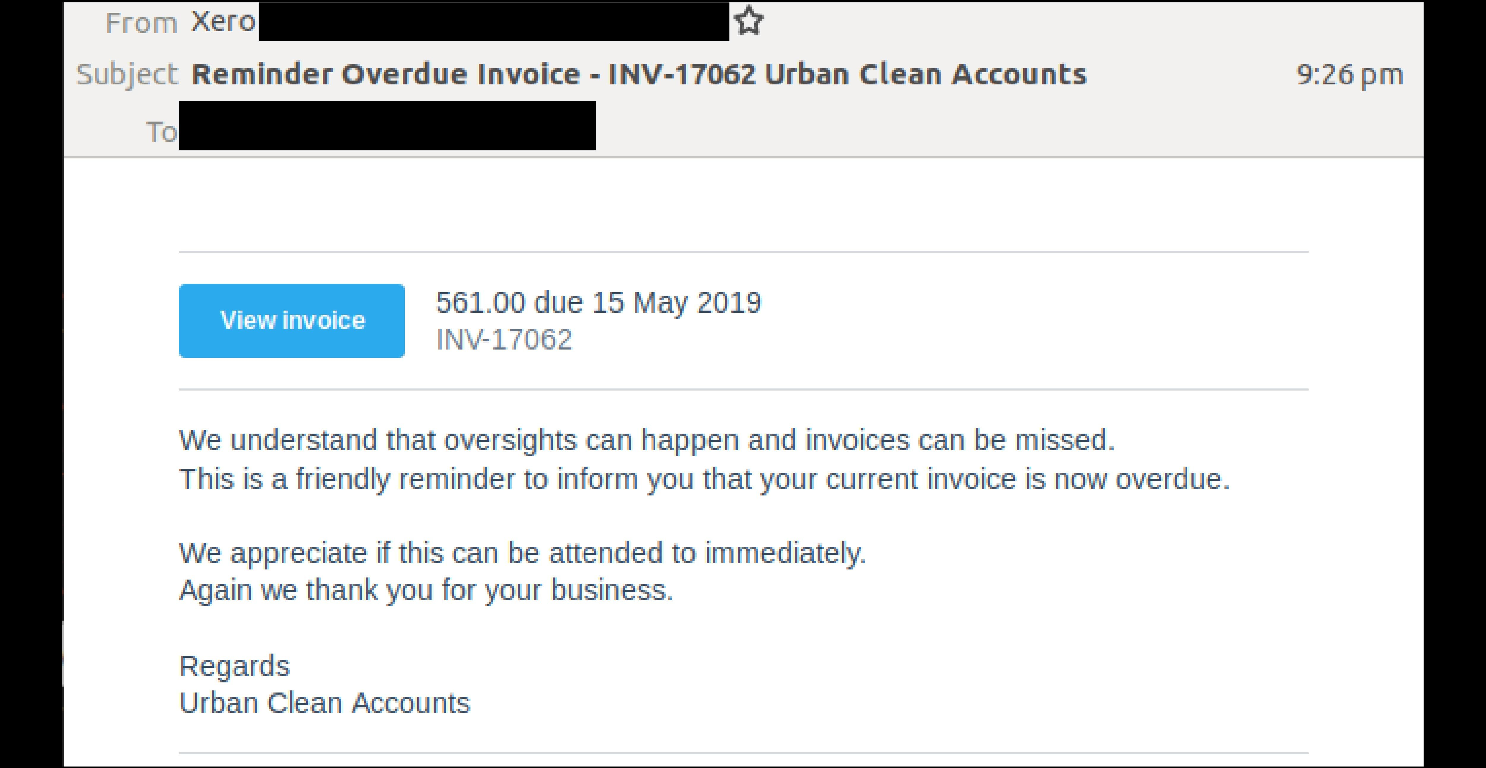 Invoice email scam spoofing Xero attacks inboxes again