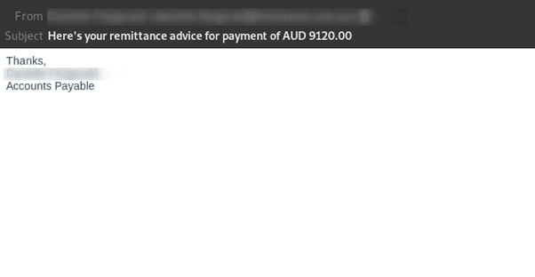 Scam Alert: Remittance advice emails are linking to a