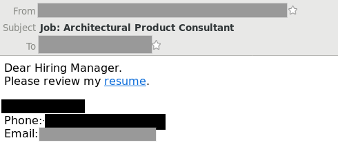 New Scam Fake Job Application Email Links To Malware